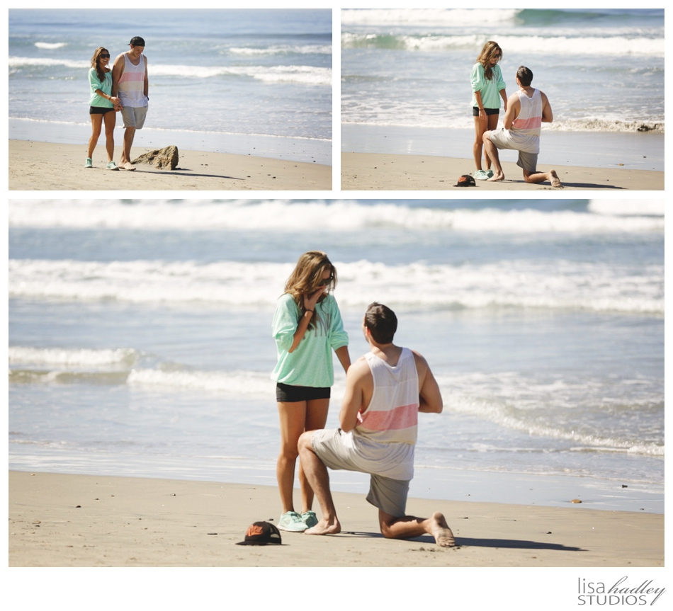 Kenny + Michelle, San Diego Beach Proposal