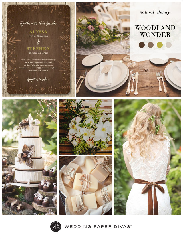 Wedding Paper Divas Woodland Wedding