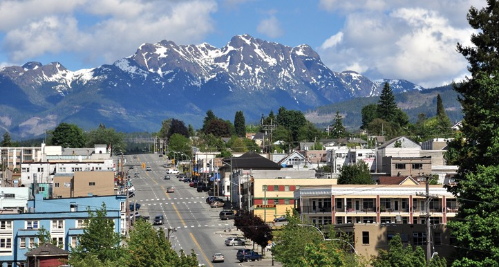 A view of Mt. Arrowsmith in Port Alberni