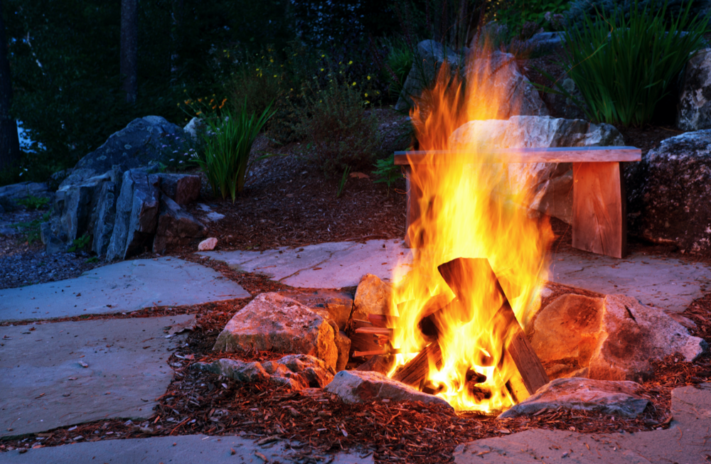 Outdoor fireplace in South Middletown, PA