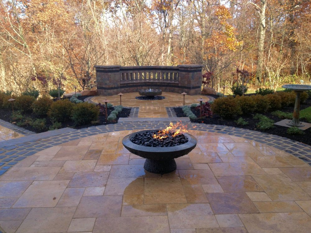 Outdoor fire features in South Middletown, PA