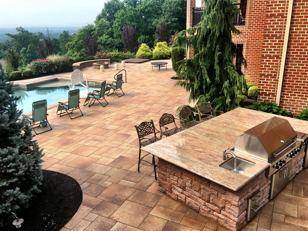 Derry, PA landscaping services, including landscape design and masonry