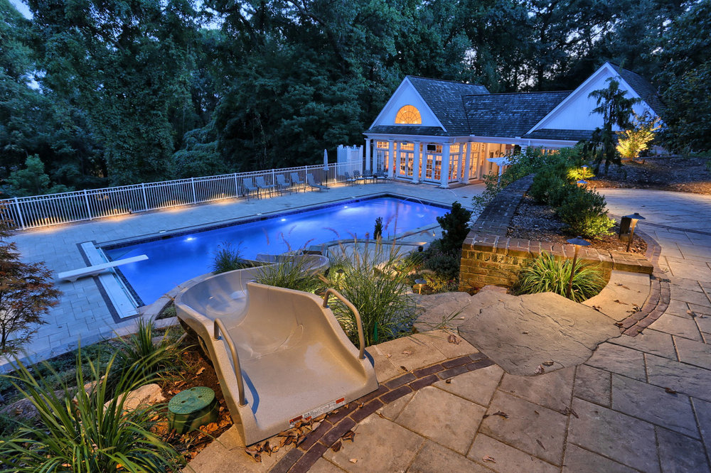 Unilock pavers and pool in Derry, PA