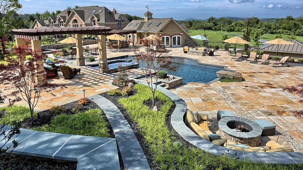 Landscape Design project in Hampden, PA with stunning masonry installation