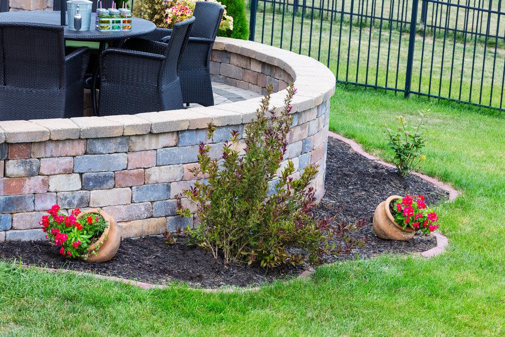Style Your Hampden, PA, Backyard with Masonry Pillars and Walls