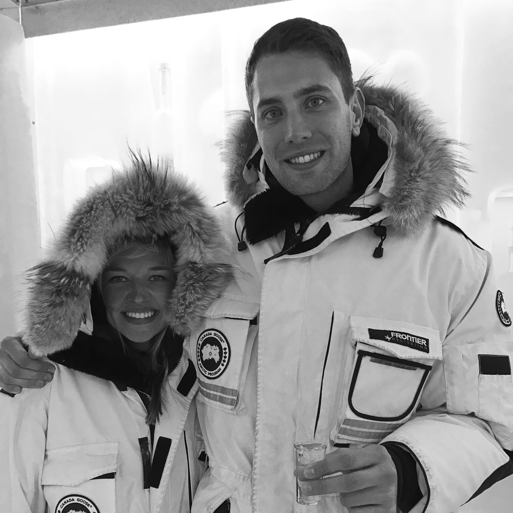 TallGuy and Me at the Ketel One Ice Bar