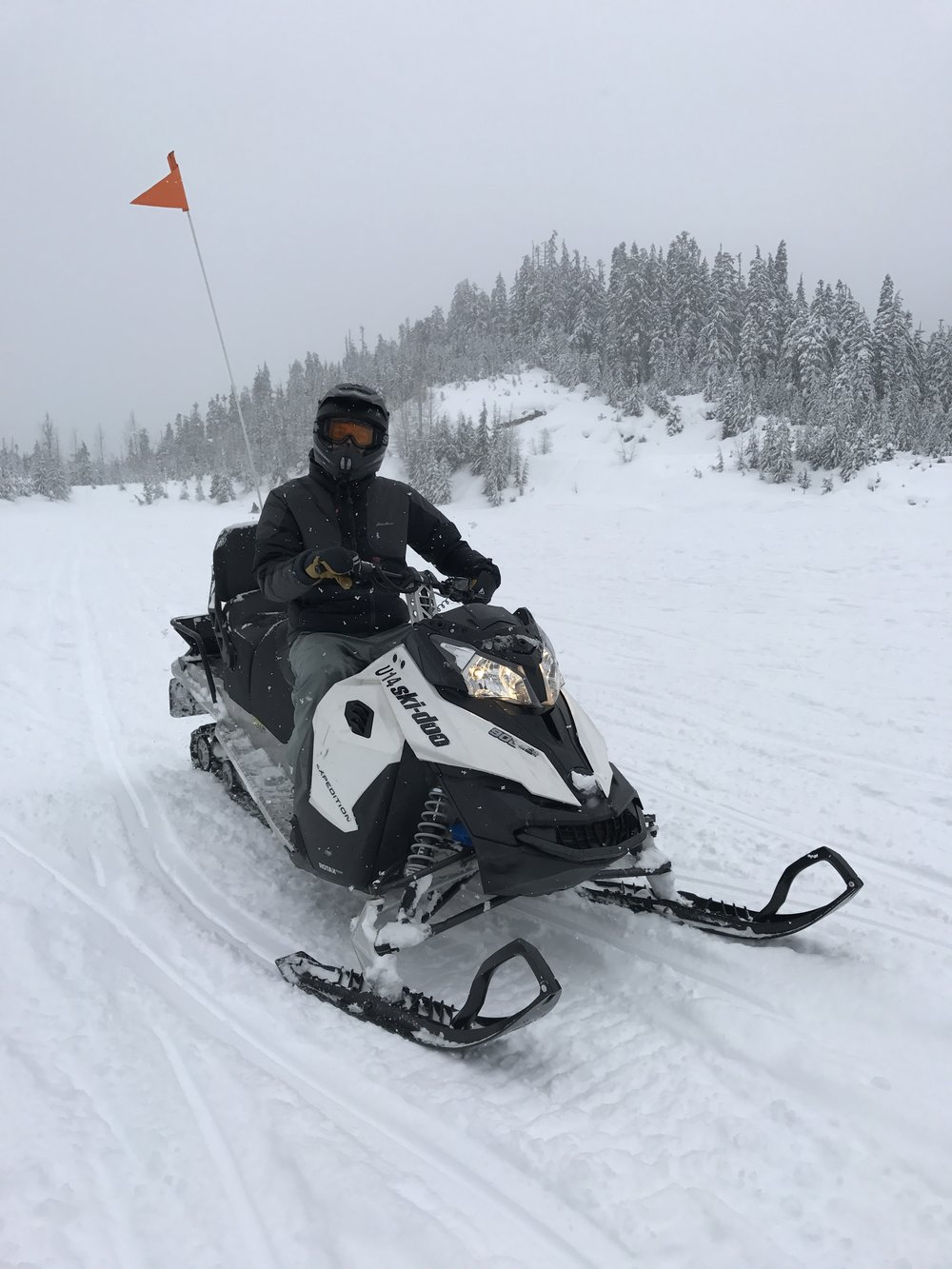 TallGuy on his snowmobile.