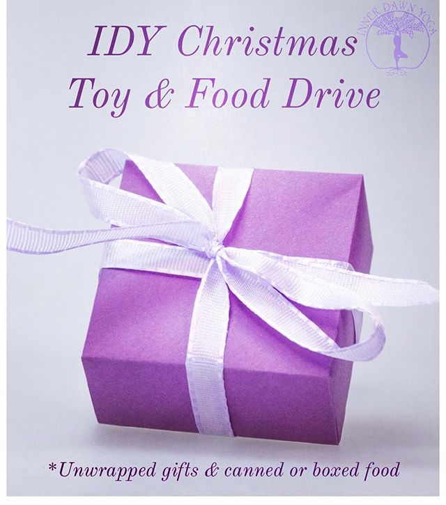 Our annual Christmas Toy, Gift and Food Drive has begun! . . Giving is the Christmas spirit! All donated items will go to the Inn of the Good Shepard. . . Our Christmas tree is up at the studio and you can drop off your gifts by simply placing them under the tree. 🙏 . . We ask that all gifts be unwrapped please 💜 . . We accept toys, gifts and canned or boxed food. . . Let's come together and make someone smile this holiday season 😁 . . #innofthegoodshepard #idytribe #giving
