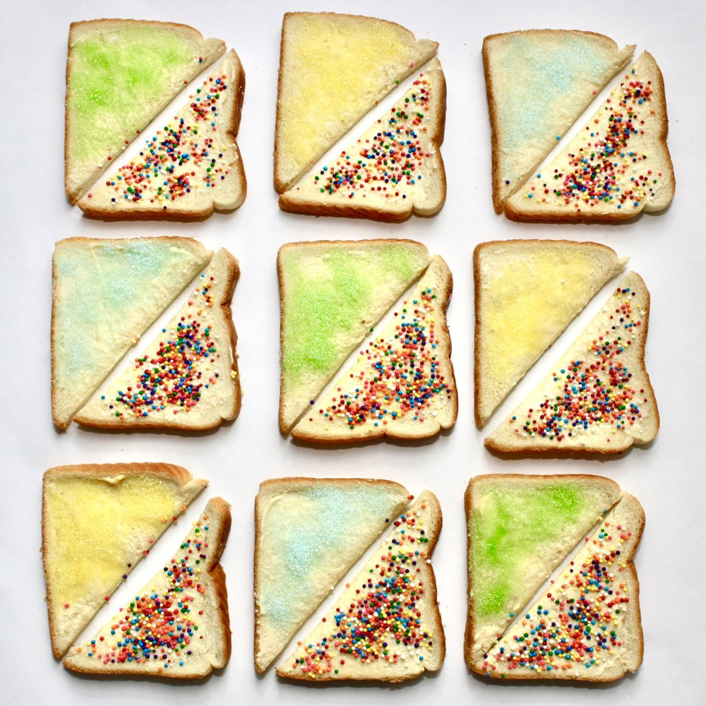 Australian fairy bread...a party staple.