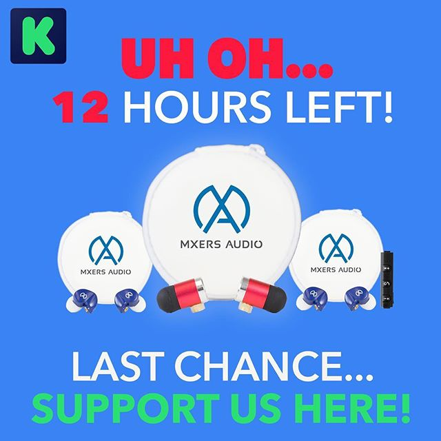 THANK YOU TO EVERYONE WHO HAS BACKED US!  THIS. IS. IT. . WE ARE SO CLOSE TO THE END! IF YOU HAVEN'T GOTTEN YOUR MXERS YET NOW IS THE TIME! . We will be on Kickstarter Live all day from 11-6pm, help us crush our goal and be the first to get your hands on mXers Wireless and xBass earbuds! . EVERY. DOLLAR. COUNTS! . Link in Bio // bit.do/mxers-kickstarter