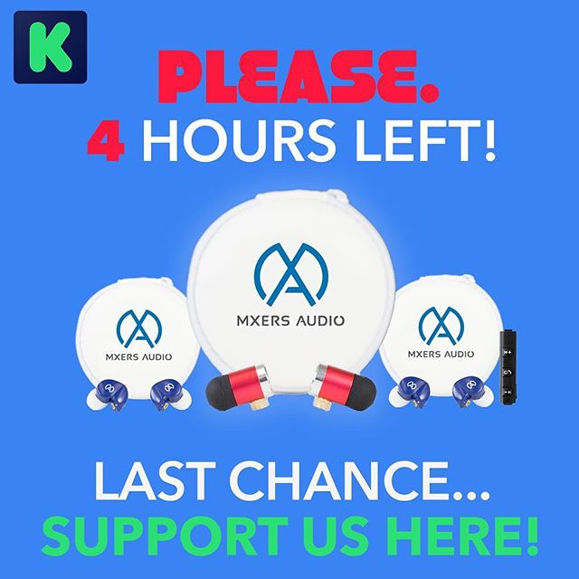 ENDING AT 6pm CT! Thank you to everyone who has backed our campaign! We are 112% funded and couldn't do it without you! . If you haven't backed our campaign, check us out and take advantage of our Kickstarter-exclusive deals 😎