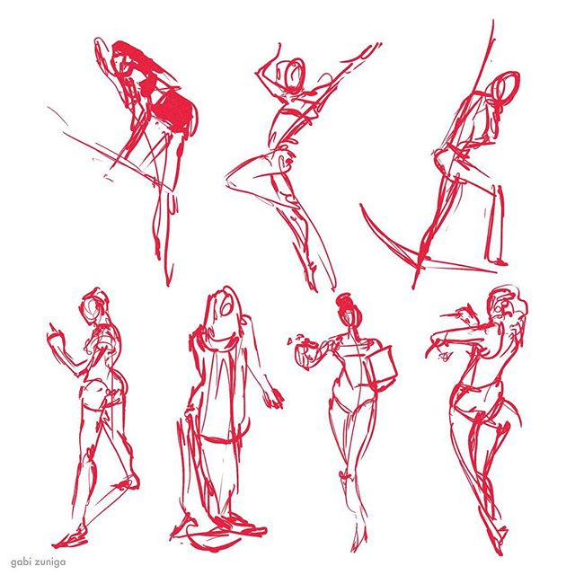 sketches • 1-2 min warmups #figure#gesture#drawing#digital