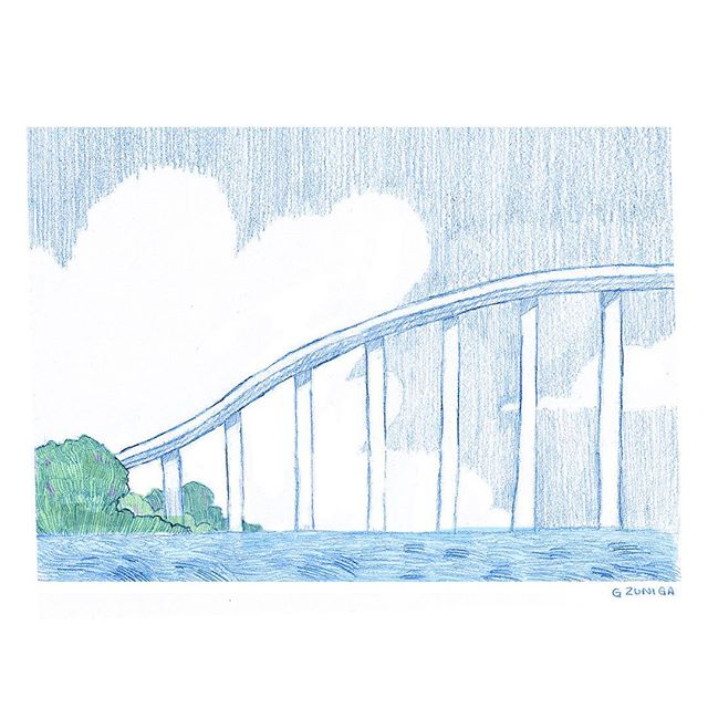 soar • loosely based on the wabaso bridge in indian river county, flordia.  #florida#pencil#verobeach#wabassobridge