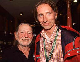 David had the rare opportunity to meet and photograph the legendary Willie Nelson.