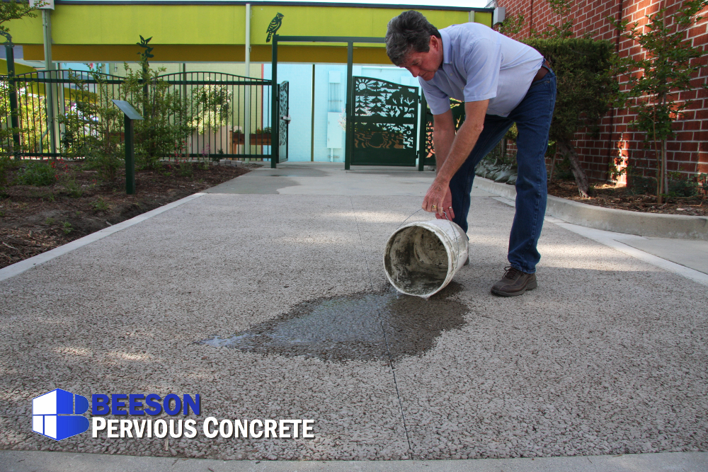 PerviousConcrete-Drains-School