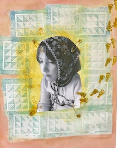 Positively Byzantine , a collage by Valerie Epstein-Johnson, 2017