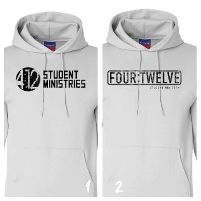 Quick poll...which design do you like better for a hoodie this fall? #412studentministry