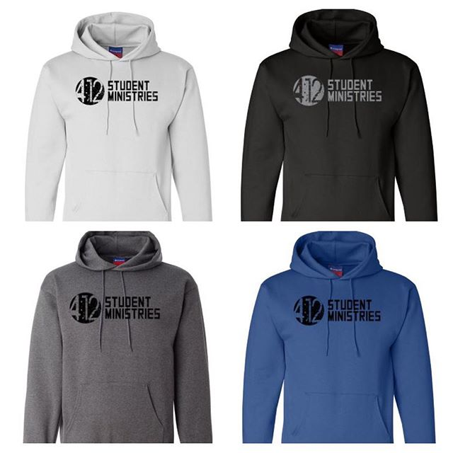 Would like to get our hoodie orders in this week. Let me know the color and size you'd like!