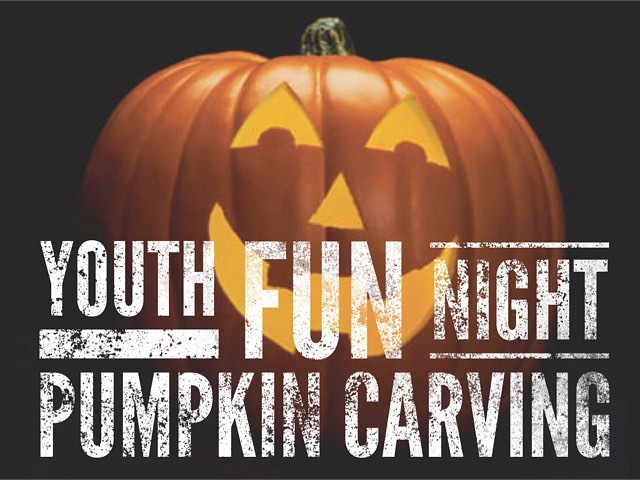Sunday is our Youth Fall Party and Pumpkin carving!