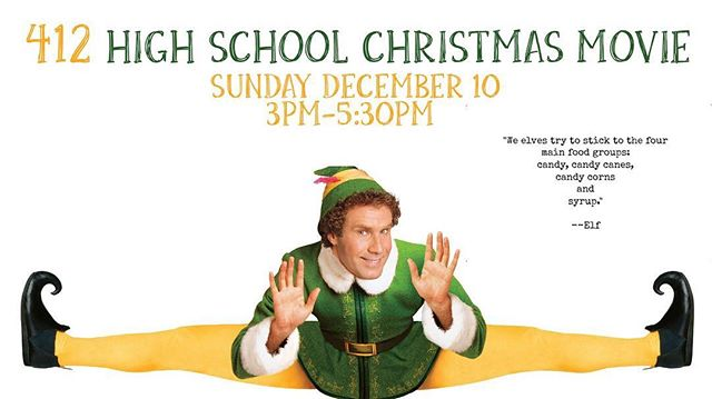 This Sunday we will be decorating cookies, eating food, and watching Elf! #412studentministry #elf