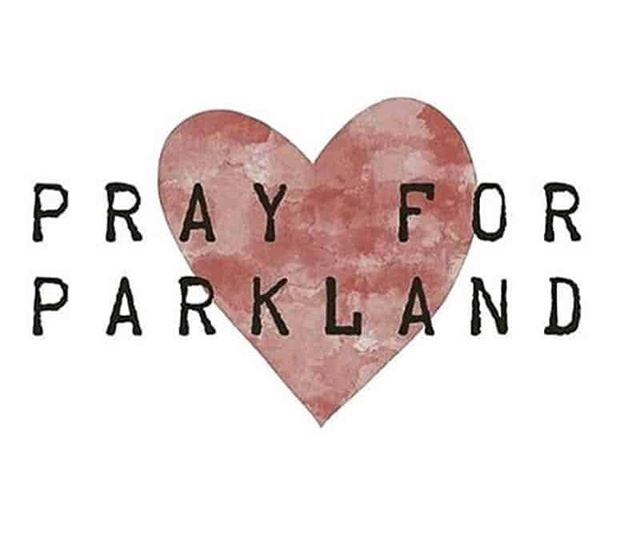 Lifting up the Parkland families and community  in our prayers... #prayforparkland