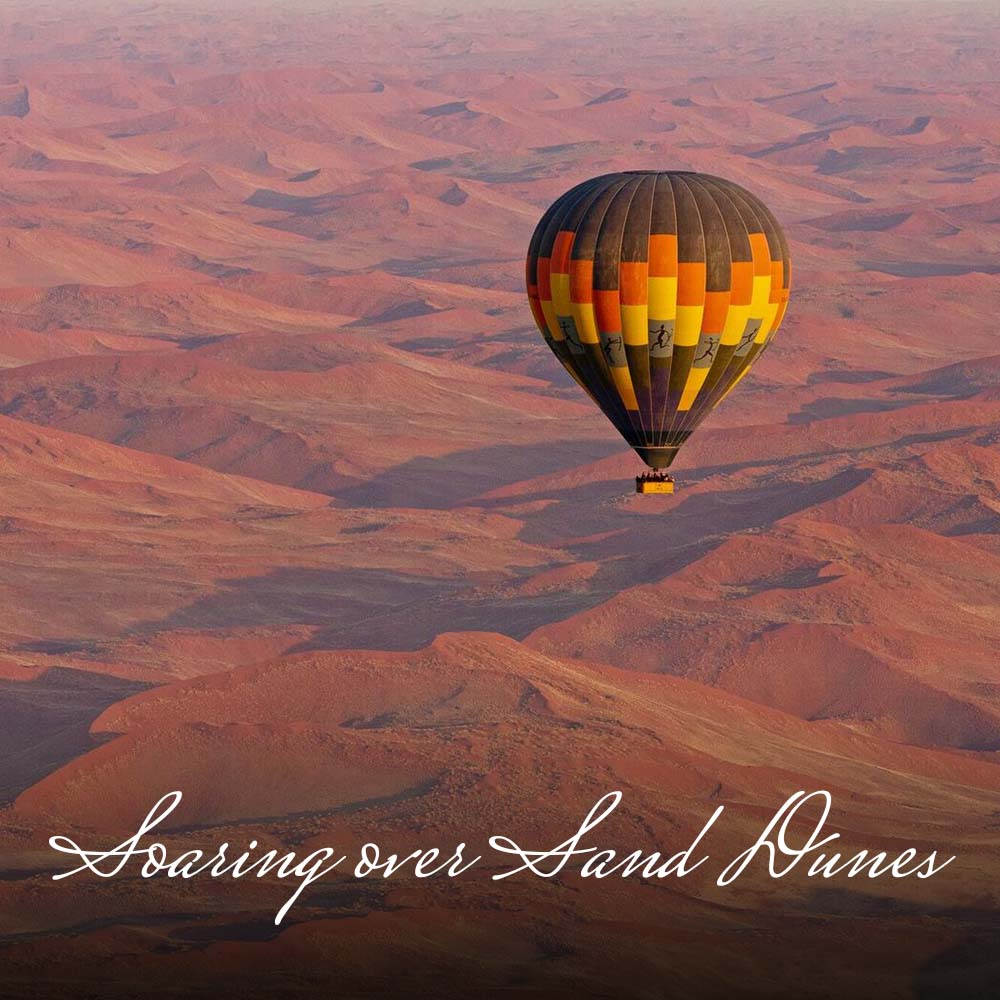 Imagine flying   over the spectacular, red  Sossusvlei dunes ; visiting the nomadic  Himba  tribe; searching for the desert-adapted  elephants  in Damaraland;  quad biking  over the dunes; exploring the incredible scenery of the wild  Skeleton Coast  to the game-rich salt pans of  Etosha , all under   the   vast night skies