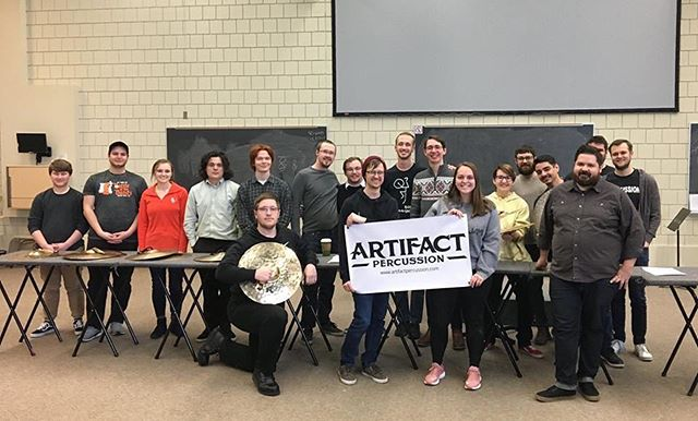A delayed thanks to the Bowling Green State University Percussion Studio and Dr. Dan Piccolo for having me on campus to talk about playing cymbals last week. Special thanks to @artifactpercussion for the support!