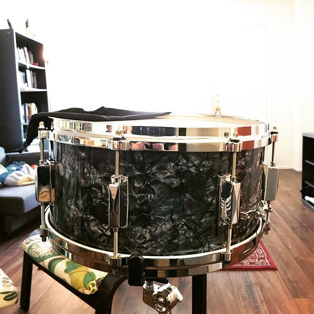 """My latest and probably last build for a little while. The """"Rocinante"""" is a 14x6.5 Cherry 5-ply snare drum, named after Don Quixote's work horse."""