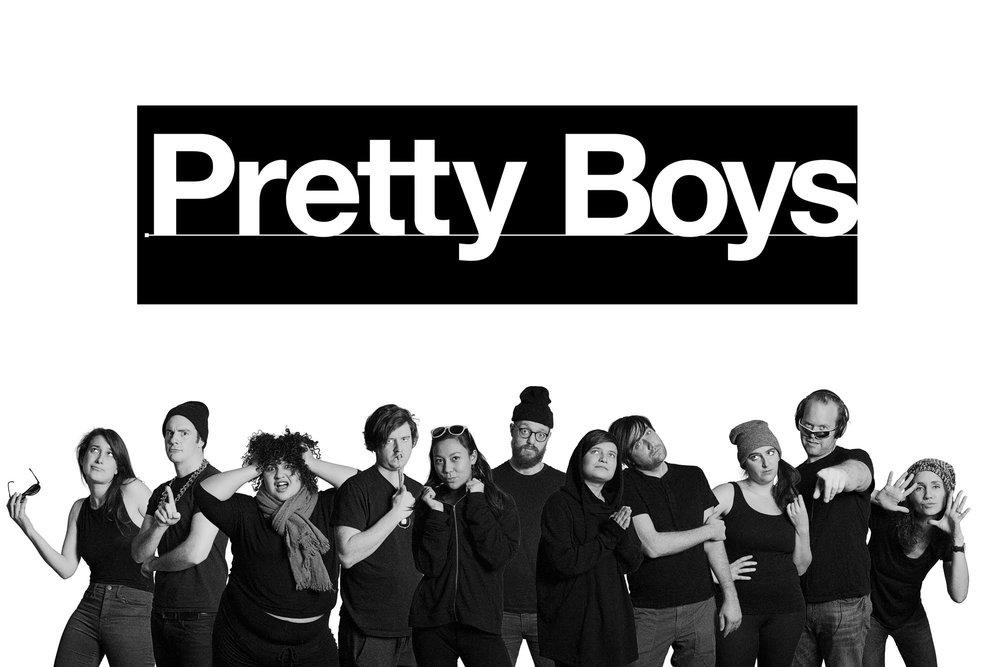 Taryn writes with her UCB Maude team Pretty Boys.