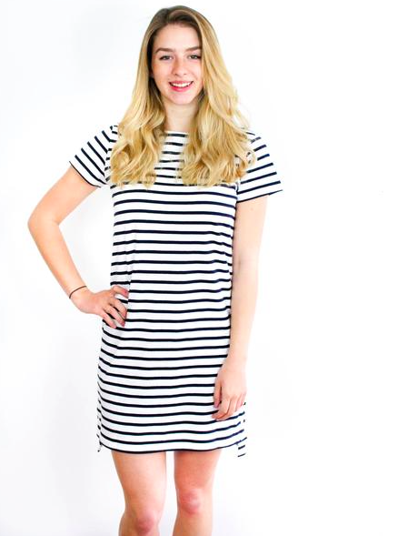 Nita 'loves' Stripes Dress - Sancho's Dress | $44