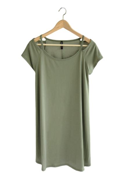 Olive Short-Sleeve Sundress - Sweet Lupine | $37 | Use code