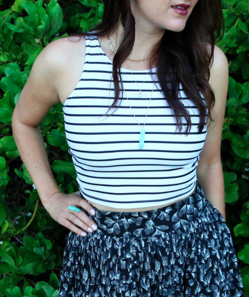 Stripe Crop - How We Soul | $34 | *Use code 'stylemefair' for 10% off