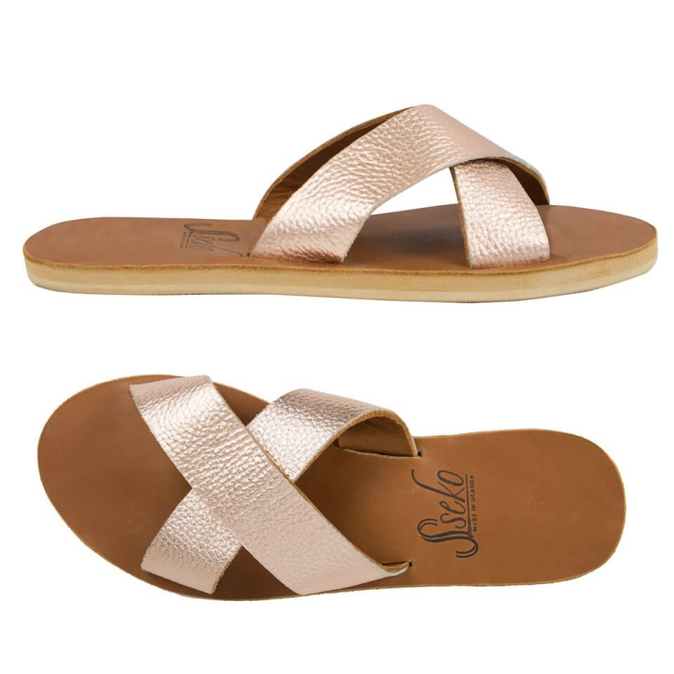Rose Gold Crossover Slides