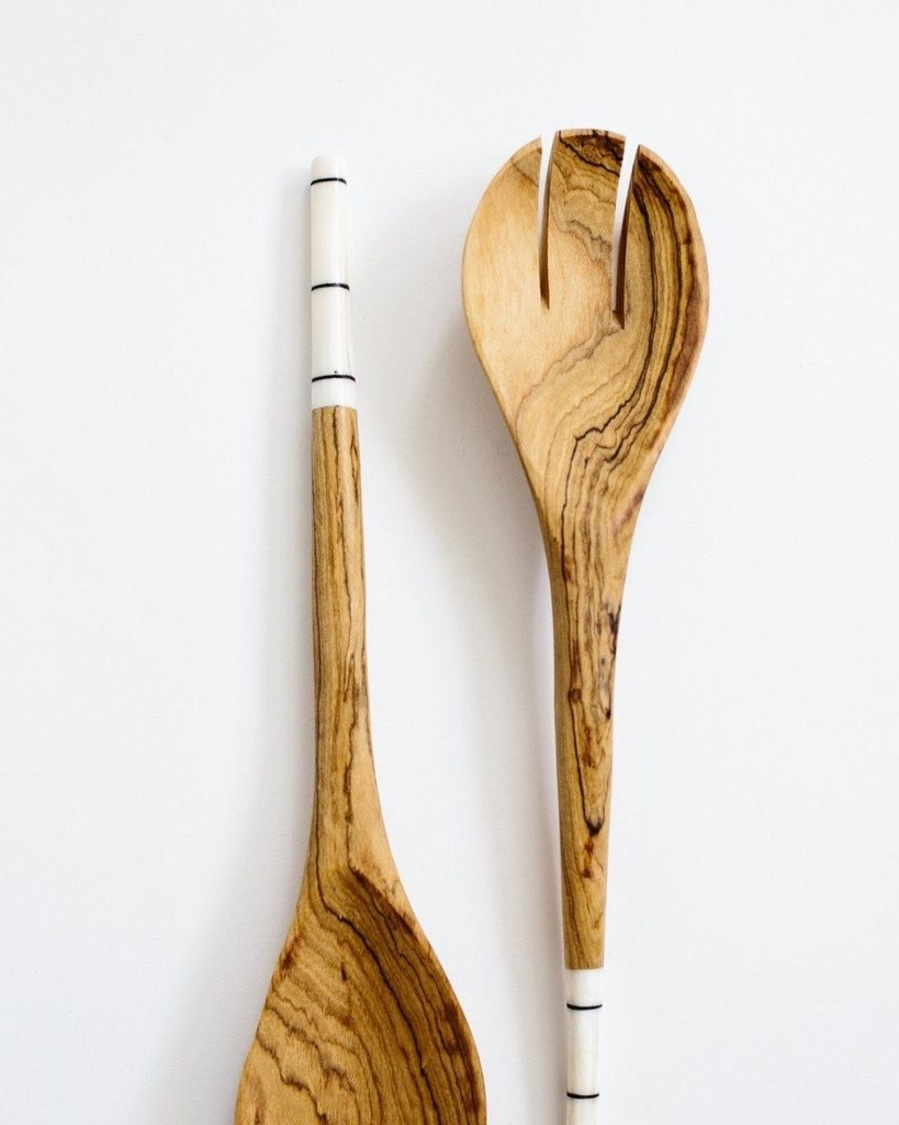 Hand Carved Utensil Set - Redemption Market | $26