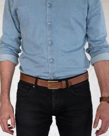 Leather Belt - Sseko Designs |$70 | Use 'stylemefair15' for 15% off