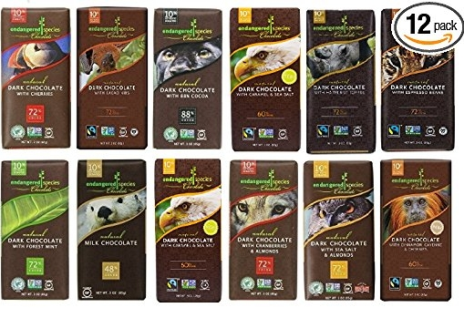 Fair Trade Organic Dark Chocolate Pack - Endangered Species | $35
