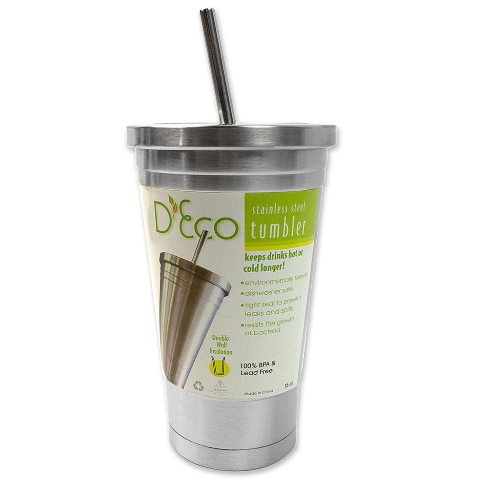 Stainless Steel Tumbler | $12 - I use one of these and they are perfect for bringing to the coffee shop! It keeps your drink cold for longer, saves money, saves the planet, and they usually end up filling it up more!