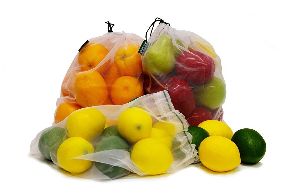 Reusable Produce Bags | $13 - No more plastic produce bags! These are inexpensive and easy to clean!