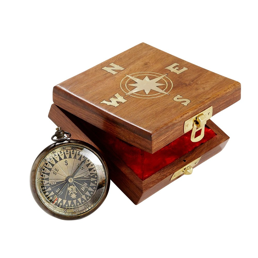 Hand Made True North Compass - Ten Thousand Villages | $30 with discount code