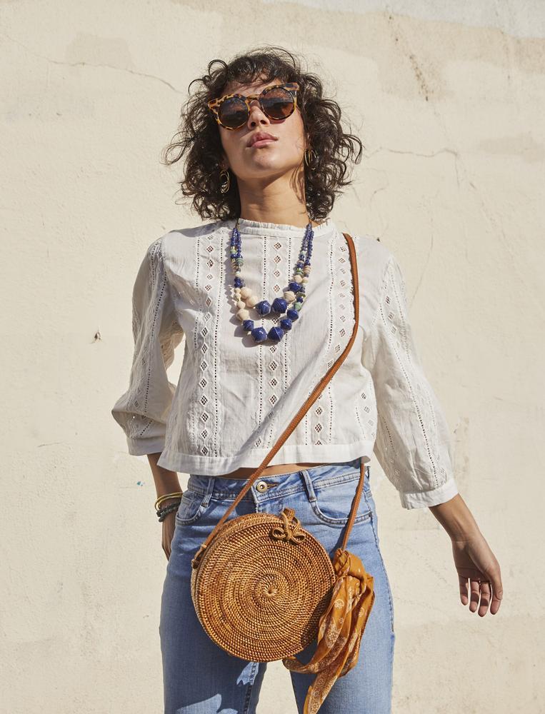 Woven Circle Bag | $63 -