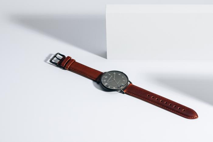 Black + Brown Watch | $100 -