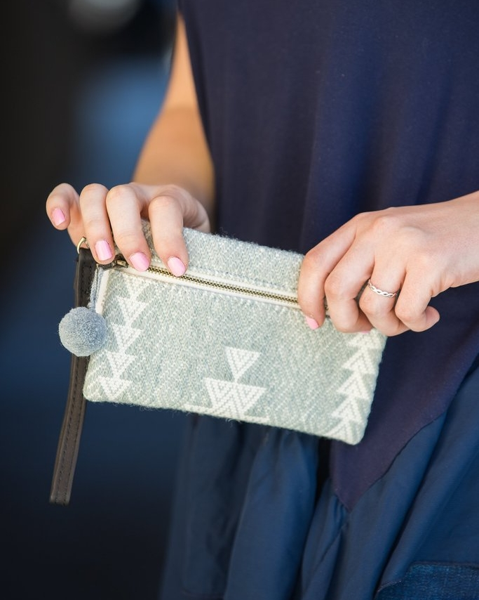 Hand Woven Mint Wristlet - Genesis Fair Trade | $30 with code SHOPGENESISFAIR for 25% off