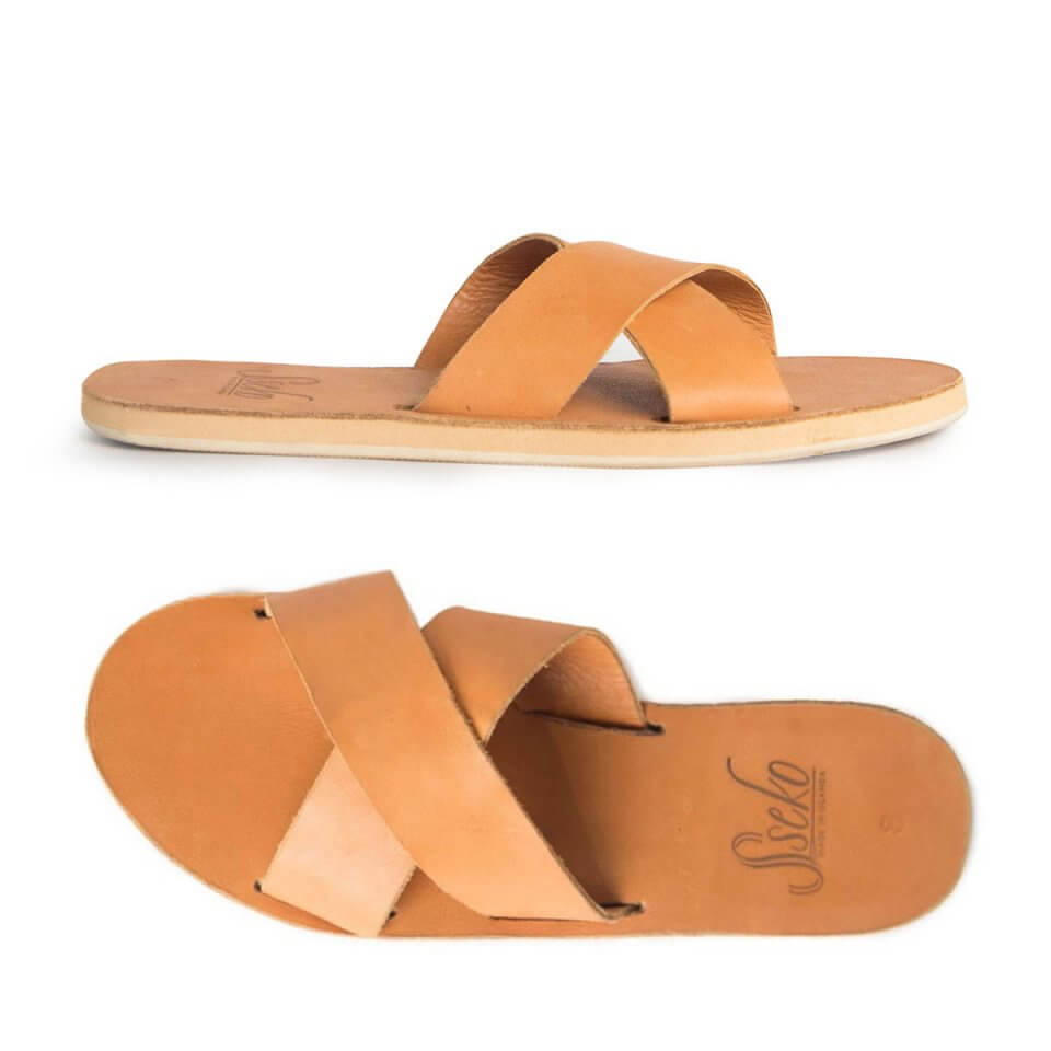 Leather Crossover Slides - Sseko Designs | $60 with stylemefair15 for 15% off