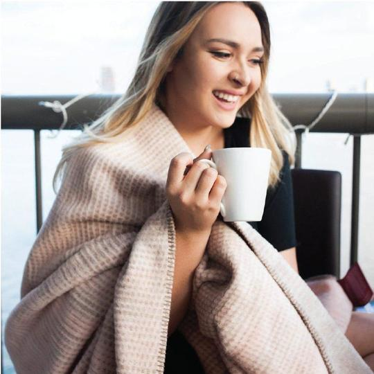 Cozy Throw Blanket - Thread Talk via Brightly | $116 with code STYLEMEFAIR for 10% off