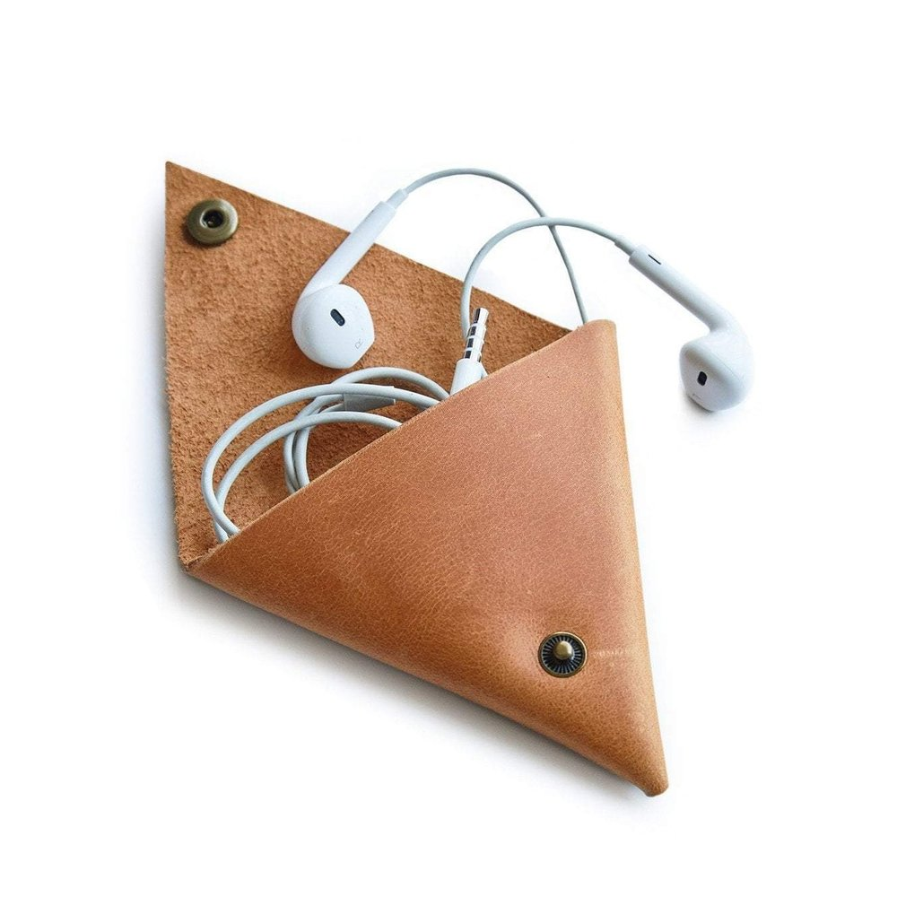 Triangle Coin/Cord Pouch - ABLE   $12
