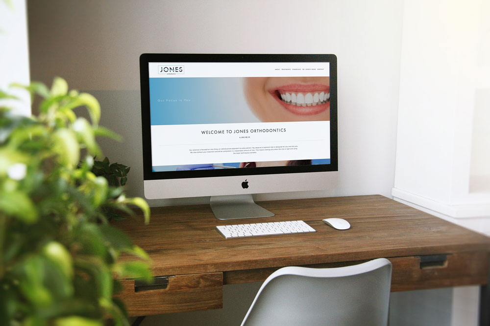 affordable website made for small business jones orthodontics