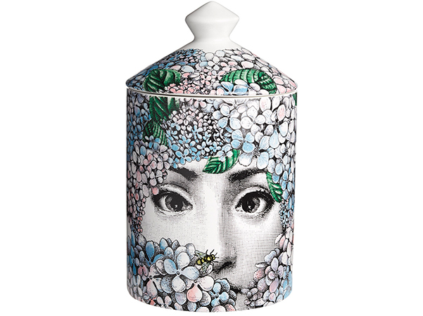 Who else packages your candle in a piece of art? Fornasetti and that's that!   Fornasetti, Ortensia candle  £140   www.amara.com