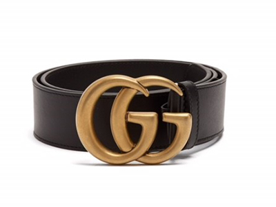 """Gucci's double G logo belt is consistently selling out. Cinch in a floaty dress or wear with high waisted jeans.""   GUCCI  Leather belt  £320  www.Matchesfashion.com"