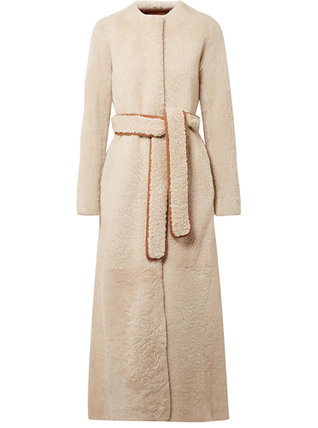 The Row  Oversized Shearling coat, £5,250