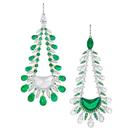 E9020 - White gold, emerald (16.99cts) and diamond (18.43cts) earrings..jpg